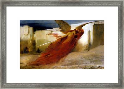 And There Was A Great Cry In Egypt Framed Print by Arthur Hacker