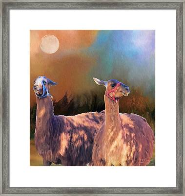 And They Danced By The Light Of The Moon Framed Print by Theresa Campbell