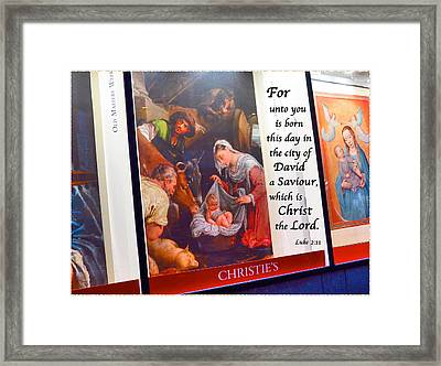 And This Shall Be A Sign Unto You Framed Print by Terry Wallace