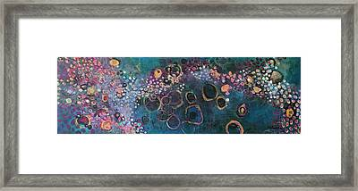 Framed Print featuring the painting And Yet You Are Loved by Laurie Maves ART