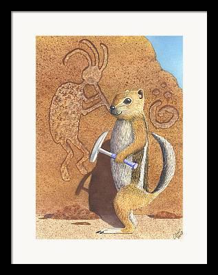 Antelope Ground Squirrel Framed Prints