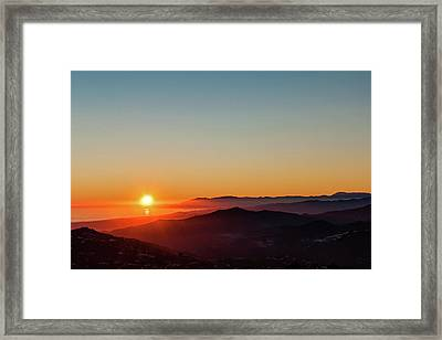 Andalucian Sunset Framed Print