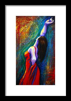 Flamenco Framed Prints