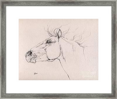 Andalusian Horse Drawing 2015 12 0a3 Framed Print by Angel Tarantella