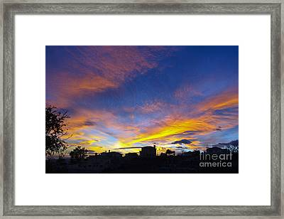Andalusian Sunset Framed Print by Perry Van Munster