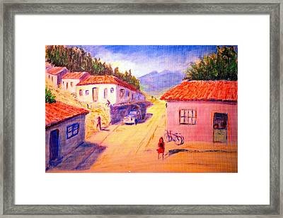 Andean Village Framed Print by Horacio Prada
