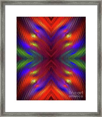 Framed Print featuring the digital art Andee Design Abstract 1 2015 by Andee Design
