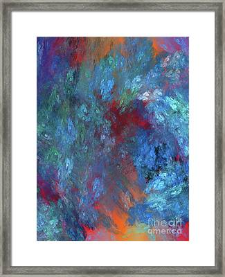 Andee Design Abstract 1 2017 Framed Print by Andee Design