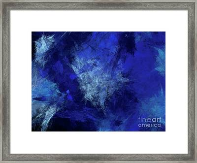 Framed Print featuring the digital art Andee Design Abstract 10 2018 by Andee Design