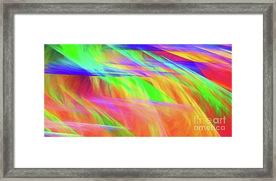 Framed Print featuring the digital art Andee Design Abstract 11 2018 by Andee Design