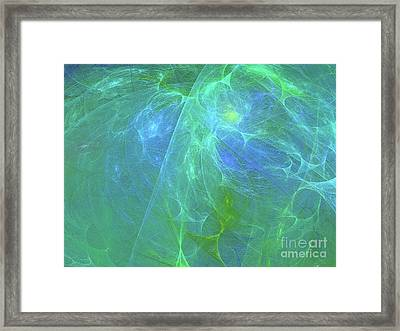 Framed Print featuring the digital art Andee Design Abstract 12 2018 by Andee Design