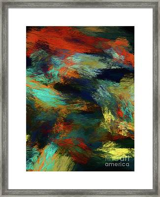 Framed Print featuring the digital art Andee Design Abstract 14 2018 by Andee Design