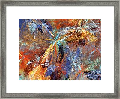 Framed Print featuring the digital art Andee Design Abstract 15 2018 by Andee Design