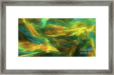 Framed Print featuring the digital art Andee Design Abstract 16 D 2018 by Andee Design