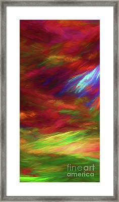 Framed Print featuring the digital art Andee Design Abstract 18 2018 by Andee Design