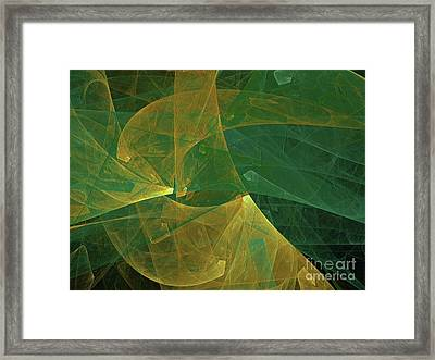 Framed Print featuring the digital art Andee Design Abstract 19 2018 by Andee Design