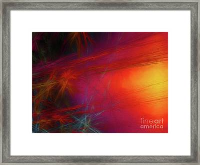 Framed Print featuring the digital art Andee Design Abstract 21 2018 by Andee Design