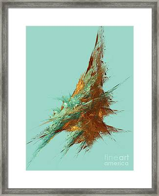Framed Print featuring the digital art Andee Design Abstract 22 2018 by Andee Design