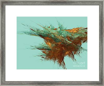 Framed Print featuring the digital art Andee Design Abstract 23 2018 by Andee Design