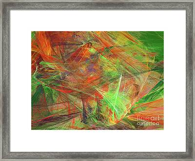 Framed Print featuring the digital art Andee Design Abstract 24 2018 by Andee Design