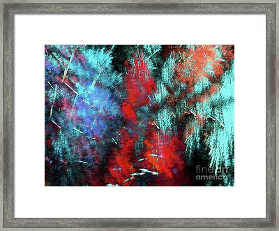 Framed Print featuring the digital art Andee Design Abstract 25 2018 by Andee Design