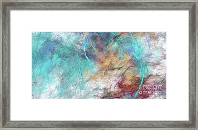 Framed Print featuring the digital art Andee Design Abstract 4 2015 by Andee Design