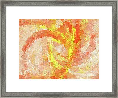 Framed Print featuring the digital art Andee Design Abstract 4 2018 by Andee Design