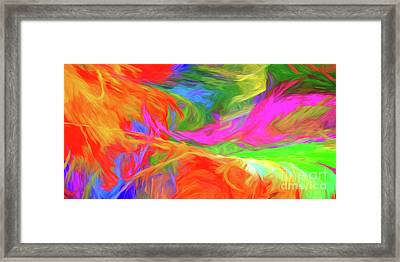 Framed Print featuring the digital art Andee Design Abstract 5 2015 by Andee Design