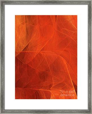 Framed Print featuring the digital art Andee Design Abstract 54 2017 by Andee Design