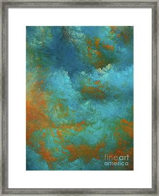 Framed Print featuring the digital art Andee Design Abstract 55 2017 by Andee Design