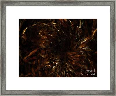 Framed Print featuring the digital art Andee Design Abstract 57 2017 by Andee Design