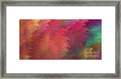 Framed Print featuring the digital art Andee Design Abstract 6 2018 by Andee Design