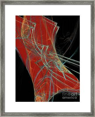 Framed Print featuring the digital art Andee Design Abstract 60 2017 by Andee Design