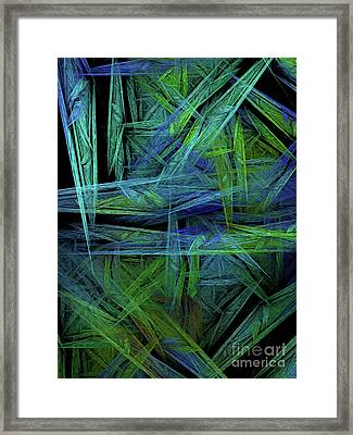 Framed Print featuring the digital art Andee Design Abstract 61 2017 by Andee Design