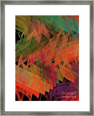 Framed Print featuring the digital art Andee Design Abstract 62 2017 by Andee Design