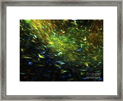 Framed Print featuring the digital art Andee Design Abstract 63 2017 by Andee Design