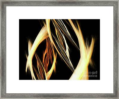 Framed Print featuring the digital art Andee Design Abstract 65 2017 by Andee Design