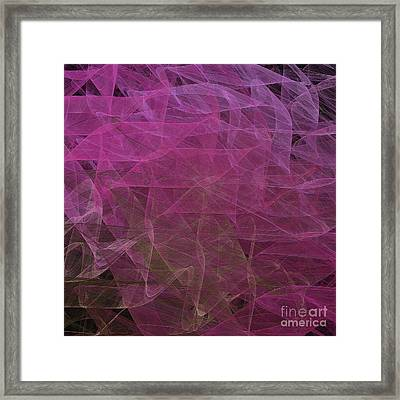 Framed Print featuring the digital art Andee Design Abstract 67 2017 by Andee Design