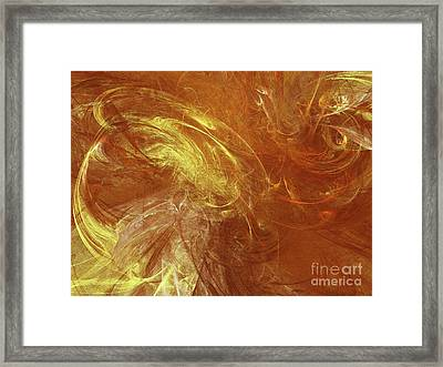 Framed Print featuring the digital art Andee Design Abstract 68 2017 by Andee Design