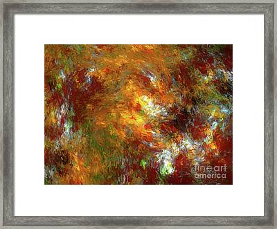 Framed Print featuring the digital art Andee Design Abstract 69 2017 by Andee Design