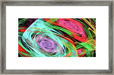 Framed Print featuring the digital art Andee Design Abstract 7 2015 by Andee Design
