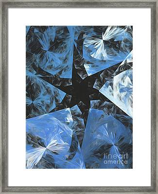 Framed Print featuring the digital art Andee Design Abstract 71 2017 by Andee Design