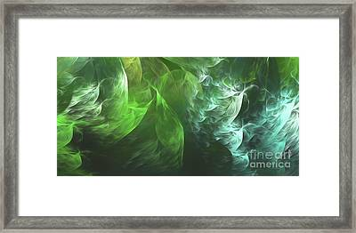Framed Print featuring the digital art Andee Design Abstract 72 2017 by Andee Design