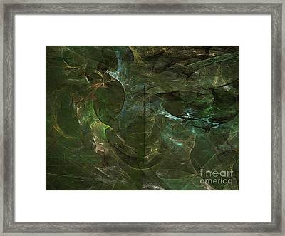 Framed Print featuring the digital art Andee Design Abstract 75 2017 by Andee Design