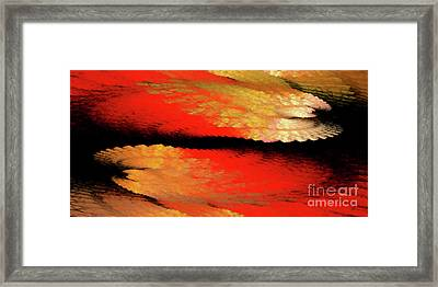 Framed Print featuring the digital art Andee Design Abstract 77 2017 by Andee Design