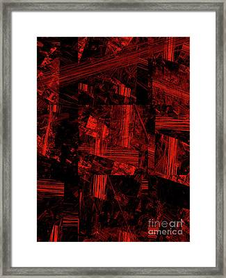 Framed Print featuring the digital art Andee Design Abstract 80 2017 by Andee Design