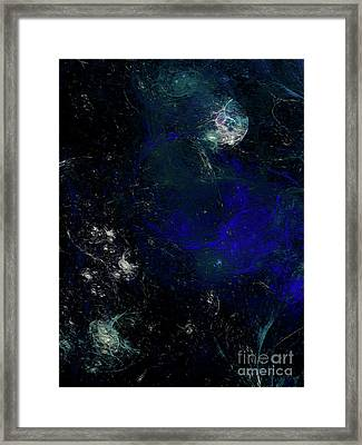 Framed Print featuring the digital art Andee Design Abstract 81 2017 by Andee Design