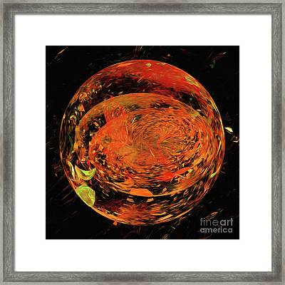Framed Print featuring the digital art Andee Design Abstract 82 2017 by Andee Design