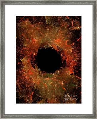 Framed Print featuring the digital art Andee Design Abstract 9 2018 by Andee Design