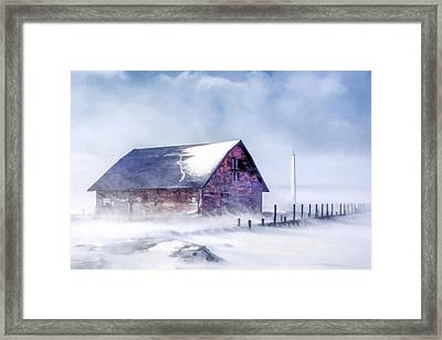 Framed Print featuring the painting Anderson Dock Winter Storm by Christopher Arndt
